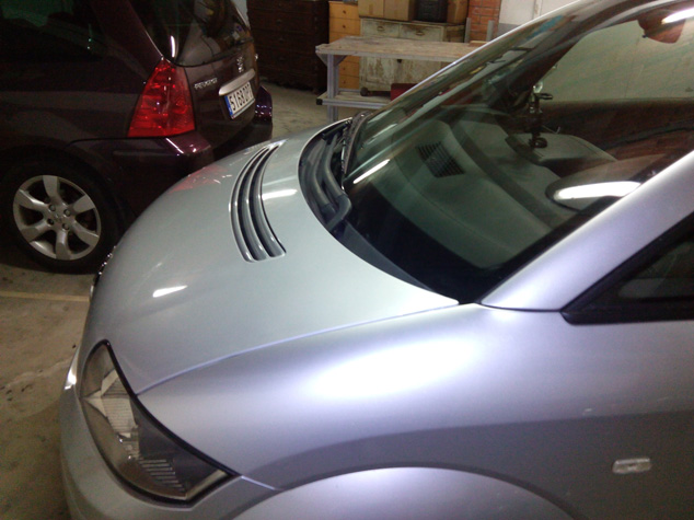 Arreglar golpes capó aluminio Audi A2
